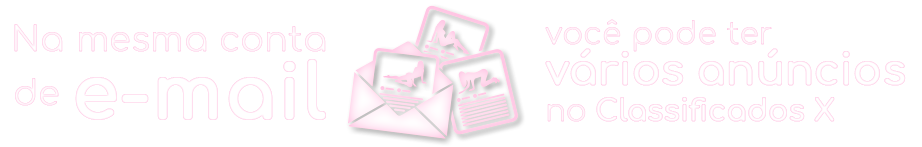 Na mesma conta de email pode ter vários anúncios